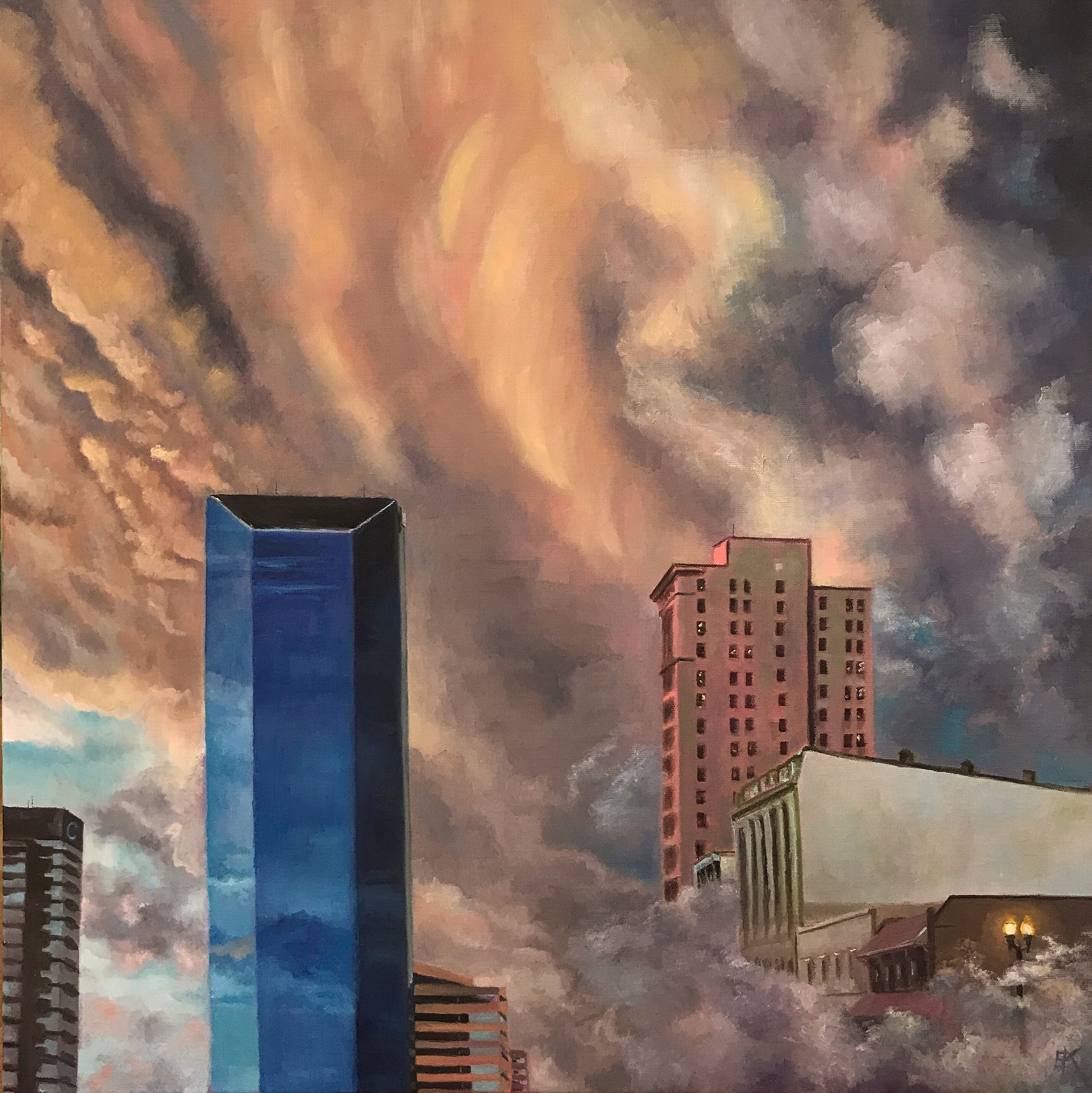 24 x 24 inch, oil on canvas.   'Lexington, Heaven on Earth'