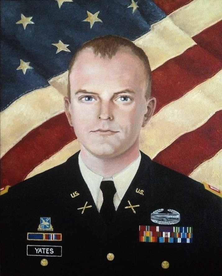 """Soldier Portrait Lt. Yates""  oil on canvas"