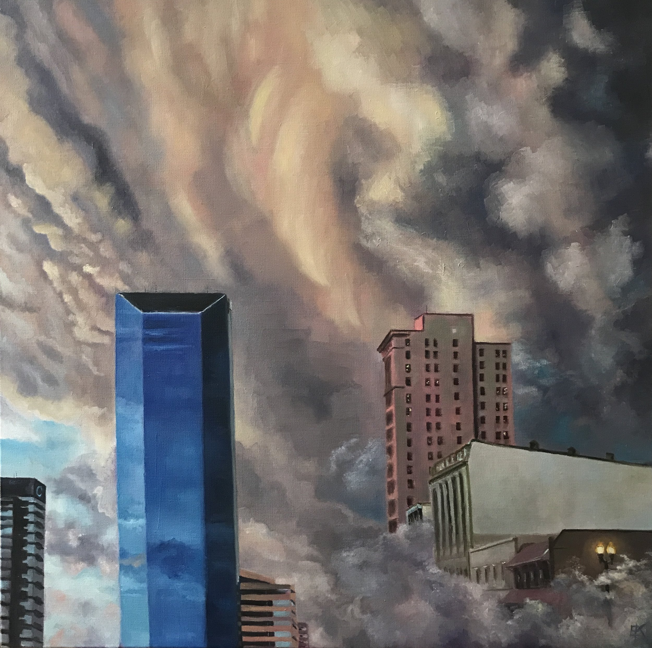 """Downtown Lexington, Kentucky""  Oil on Canvas"