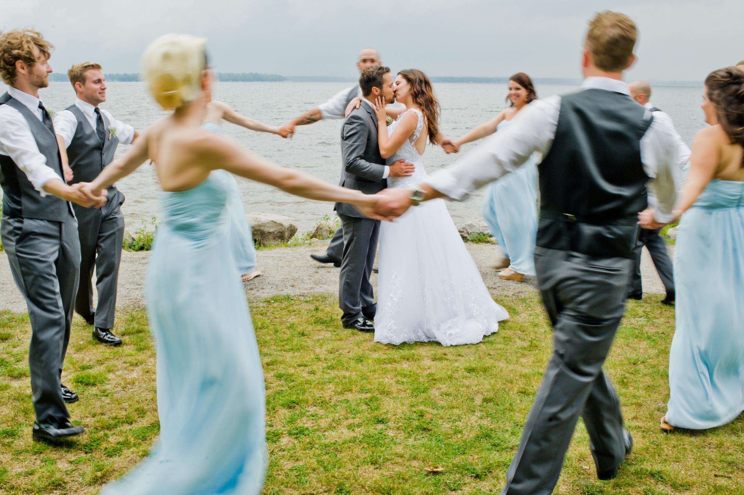 Unique Wedding Party Photo