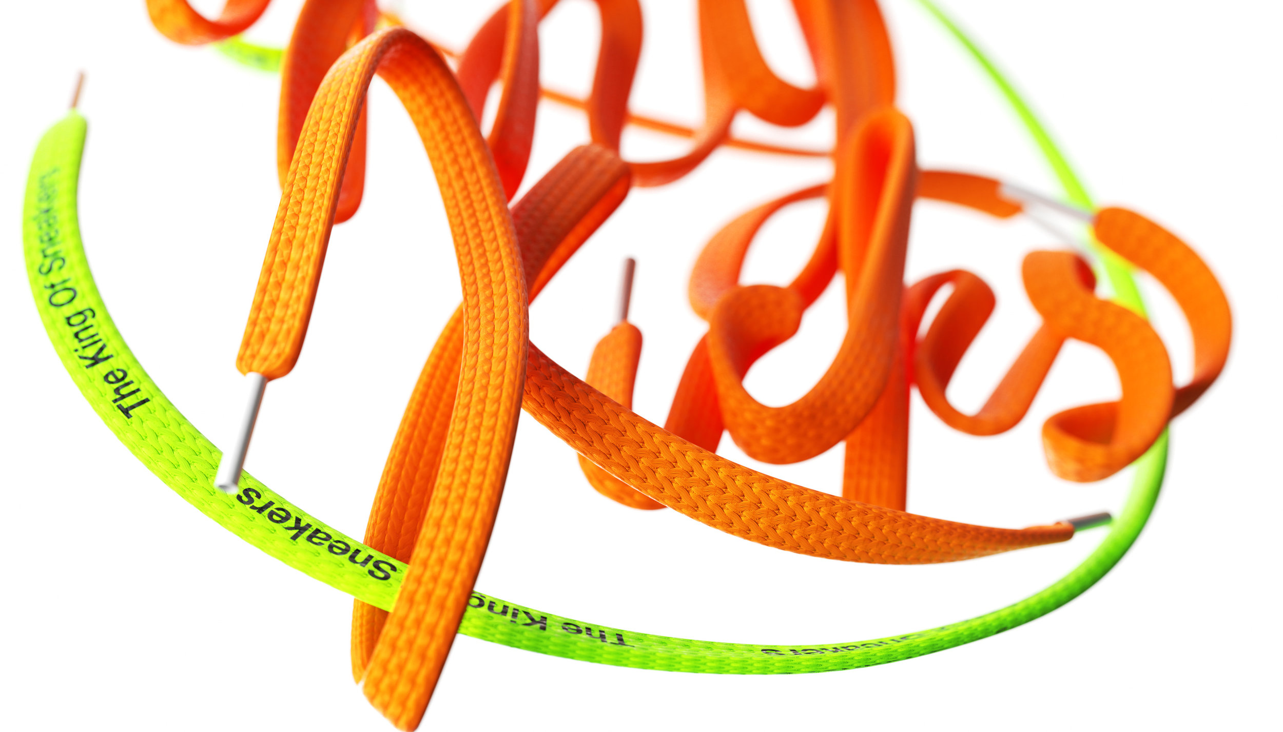 KissMyKicks-3DTypography_ShoeLace_OrangeGreen_BenFearnley-DOF_Landscape-2.jpg