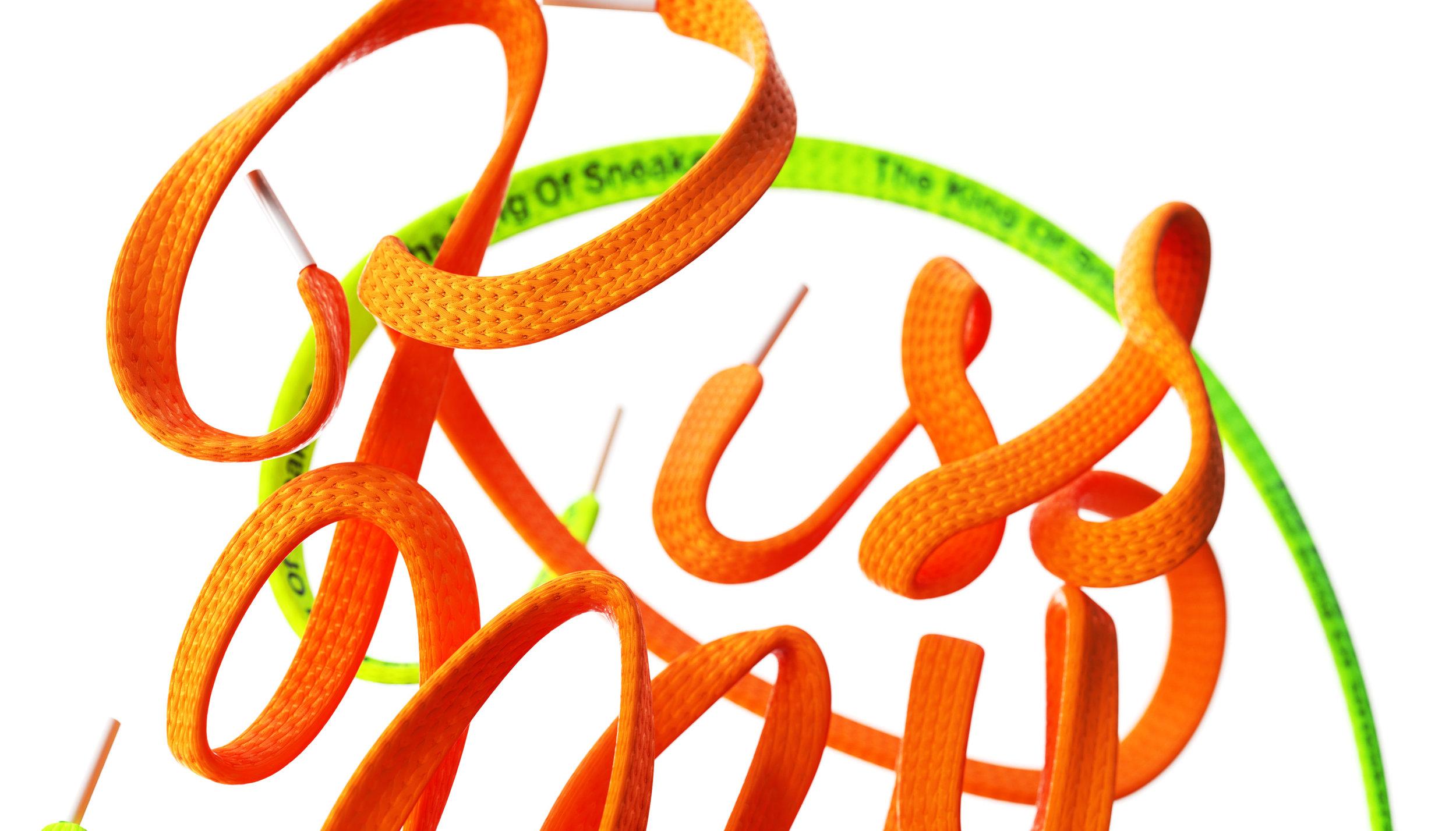KissMyKicks-3DTypography_ShoeLace_OrangeGreen_BenFearnley-DOF_Landscape.jpg