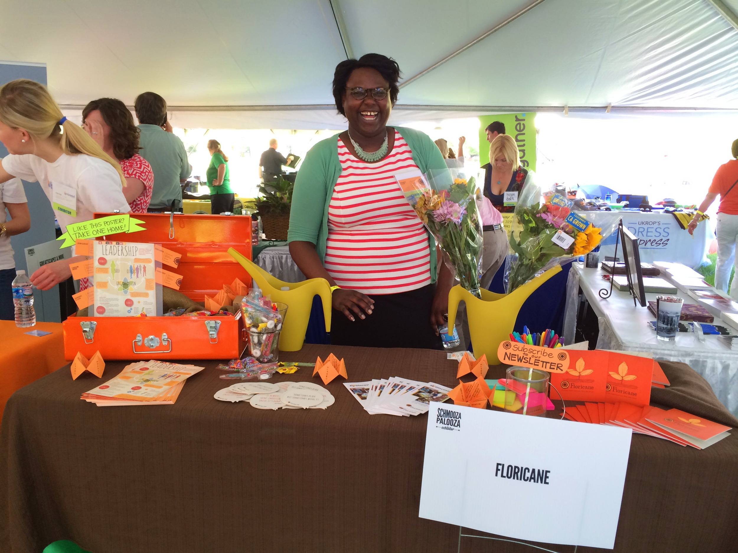 This is me, manning the Floricane table at The Greater Richmond Chamber's Schmooza Palooza event.