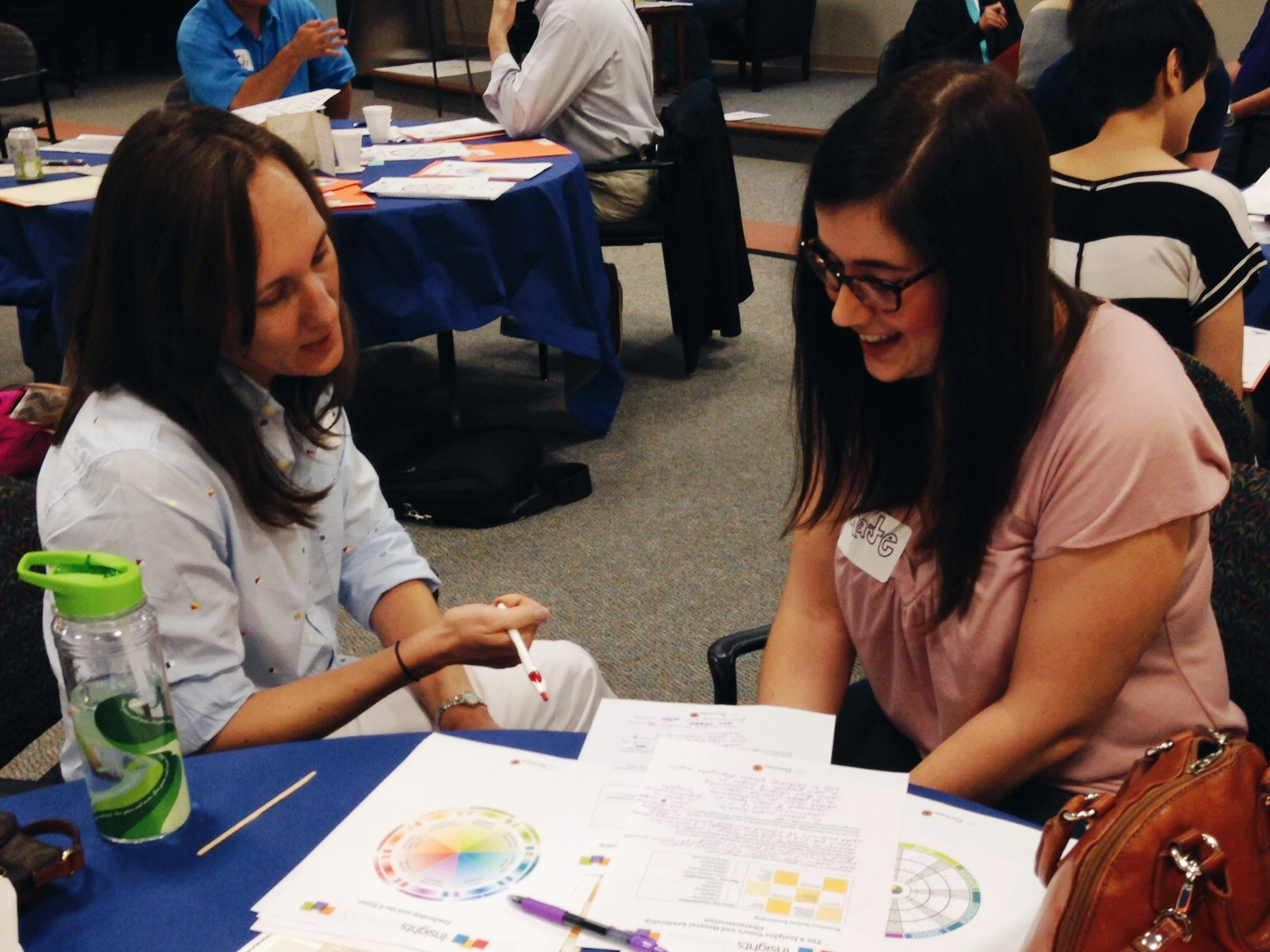 Alicia and Kate, who are opposite types on the color wheel, paired up to talk about their personal leadership styles.