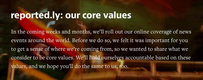 Reportedly values