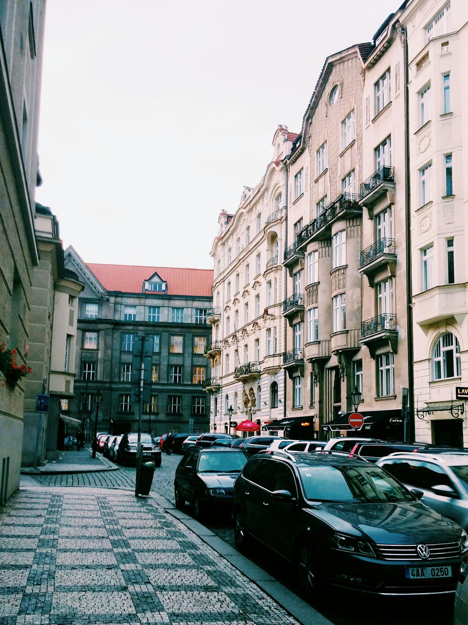 {Streets of Prague.}