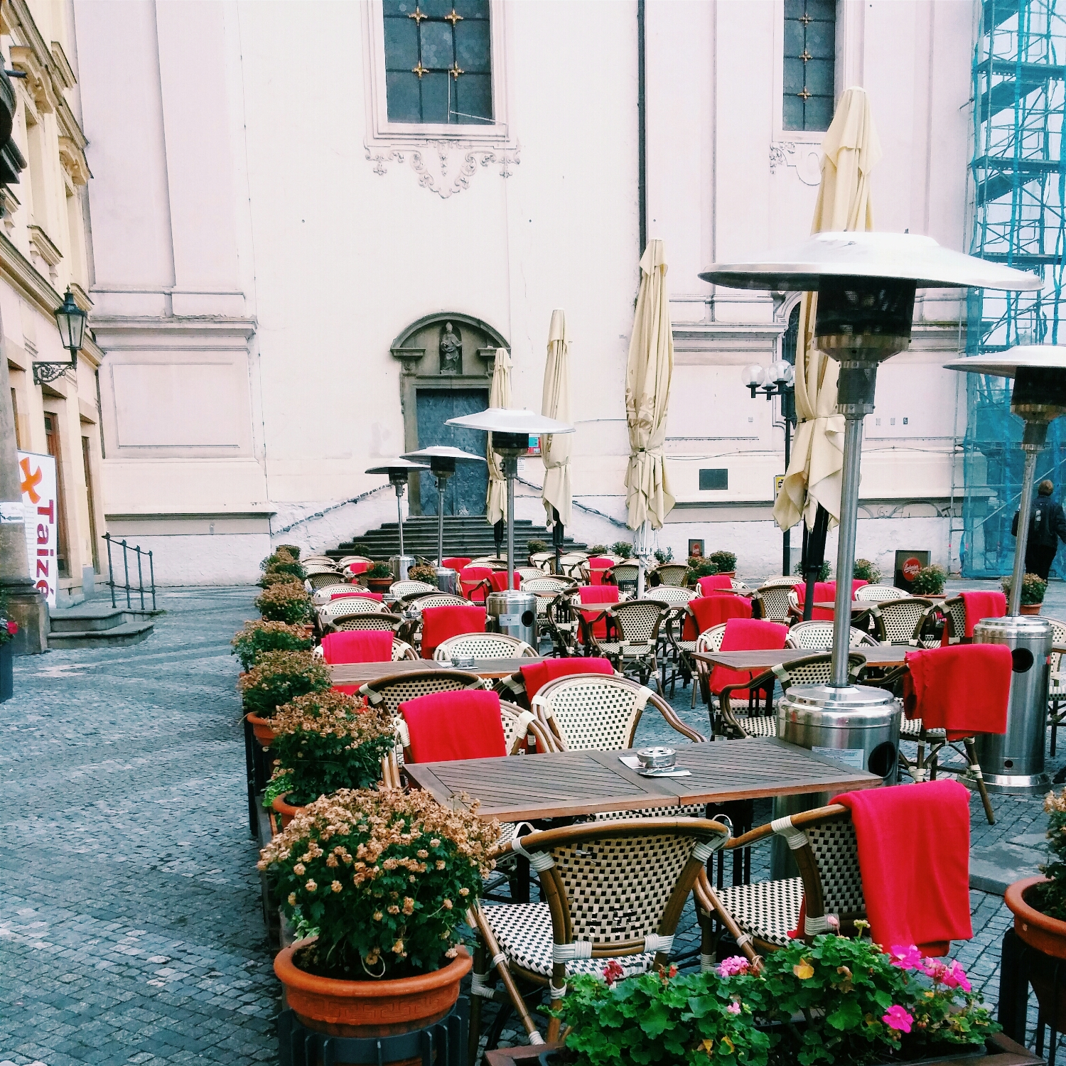 {Cute little corner. Cafe Kafka by Old Town Square.}