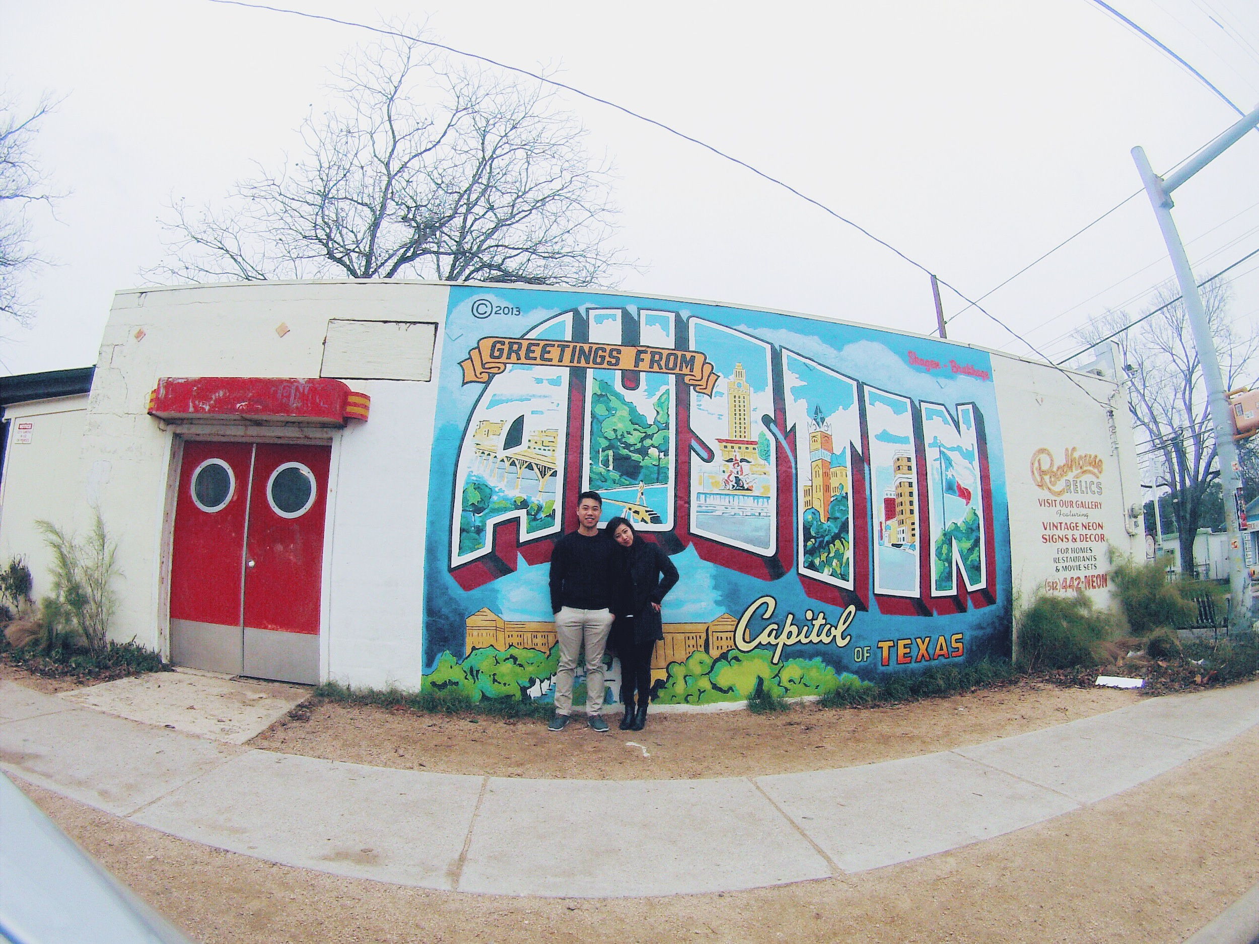 {greetings from austin from us!}