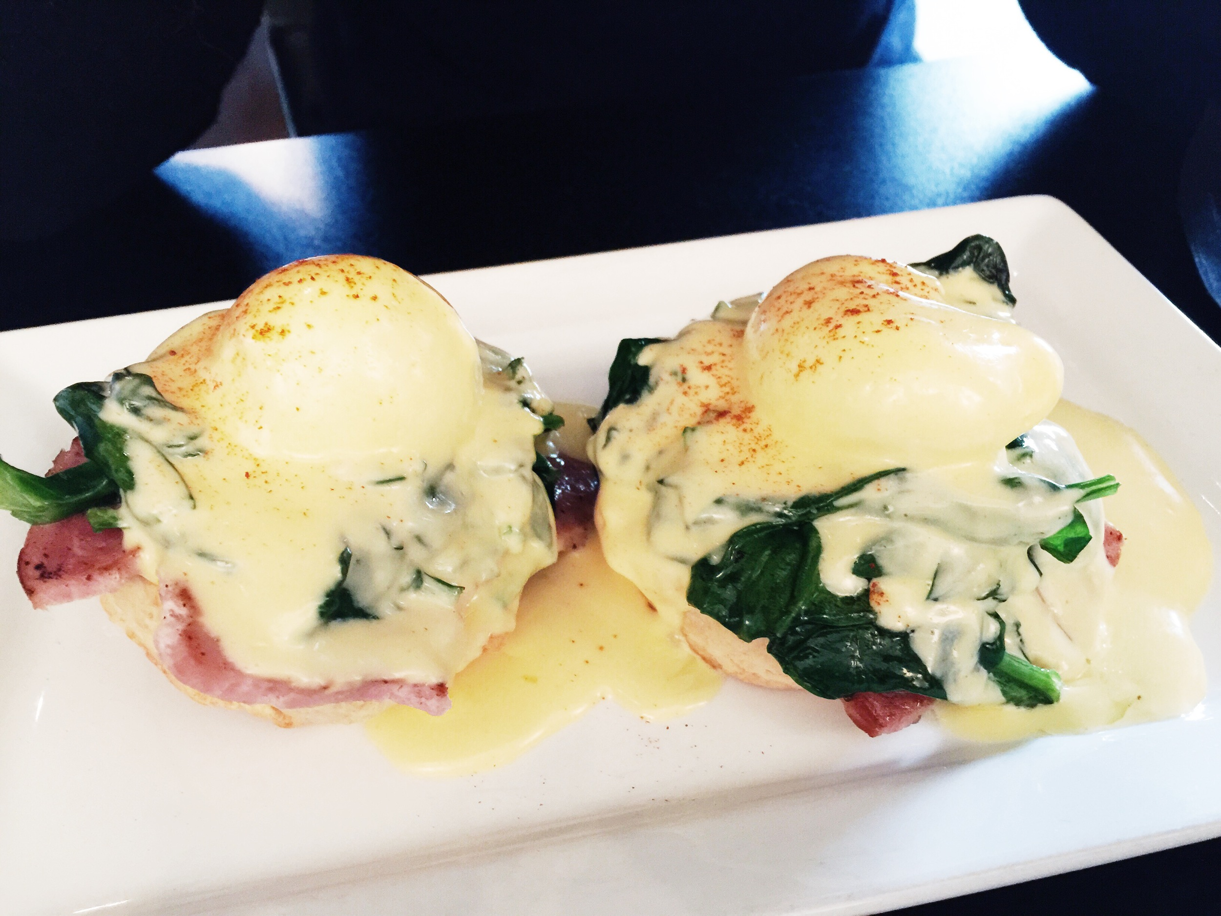 {kevin's egg benedict.}