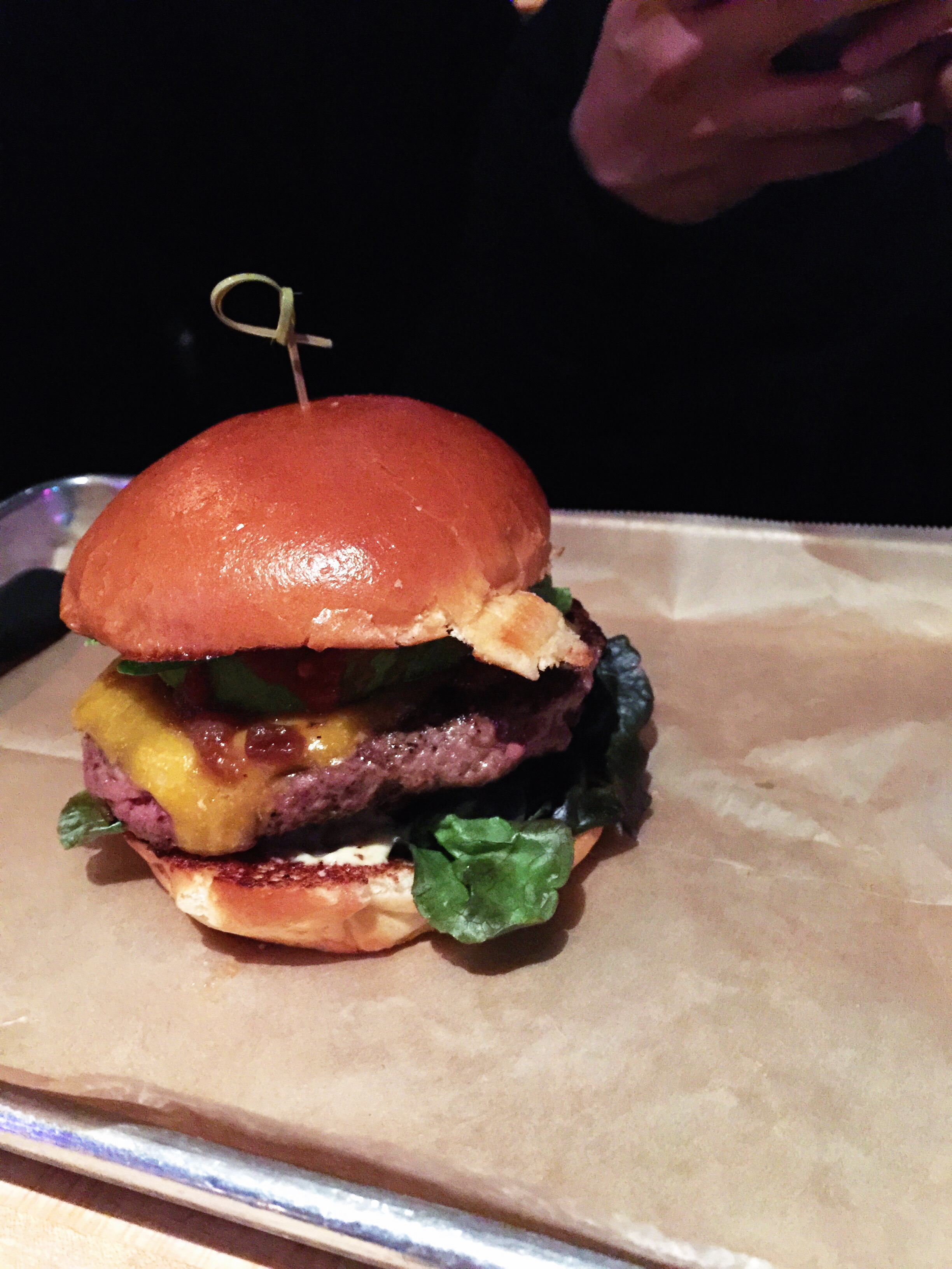 {hopdoddy's! kevin's goodnight/good cause burger.}
