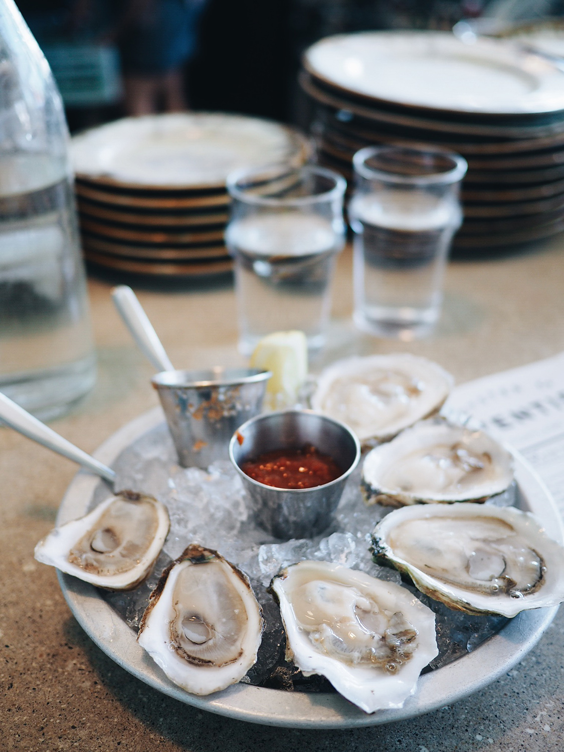 {The freshest oysters I've ever had. Literally tasted like the sea.}