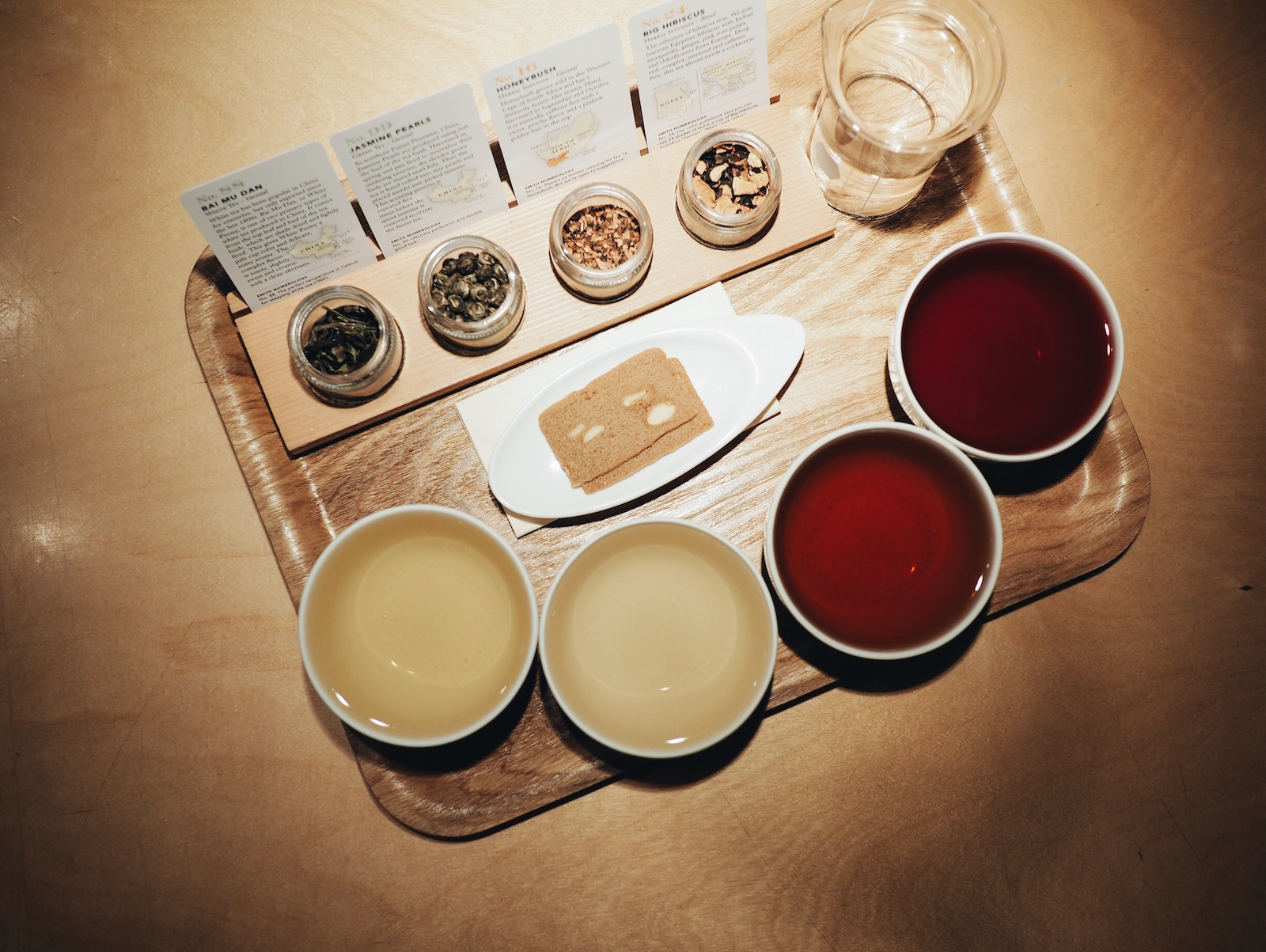 {Our tea flight.}