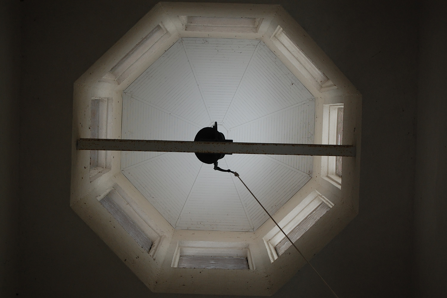 Looking up into the Bell Tower