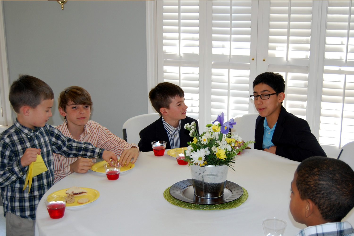 Everyone wants to sit at the kid's table