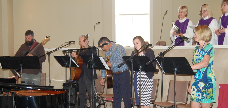 CSP Praise & Worship Team and Choir tuning up