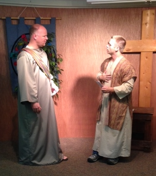 The disciples on the road to Emmaus.