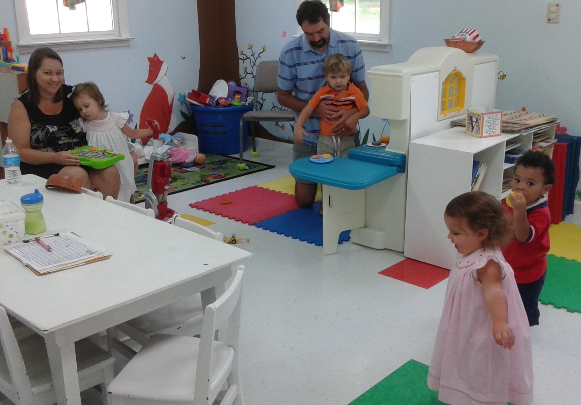 Nursery kids look happy!