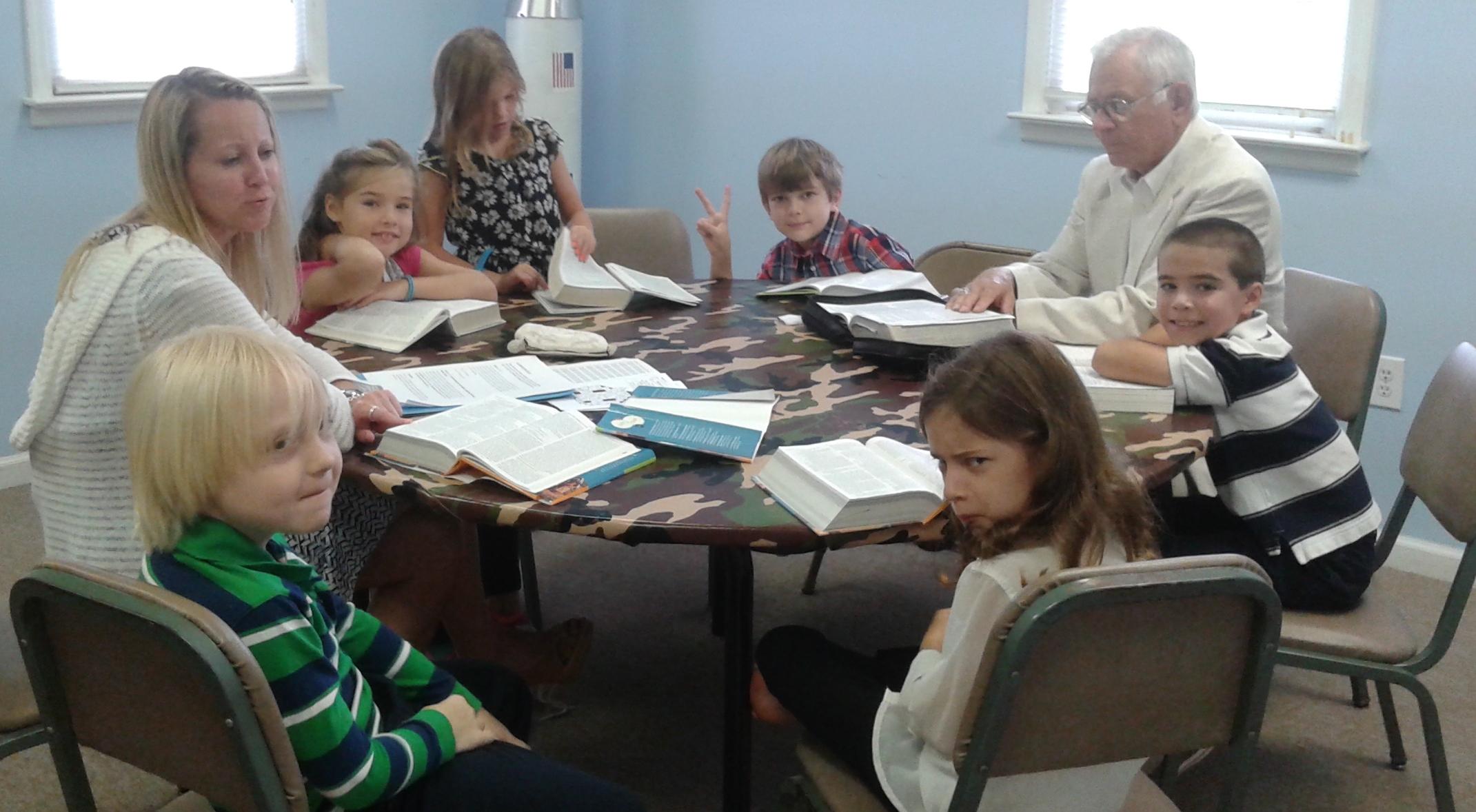 2nd & 3rd graders study Hebrews
