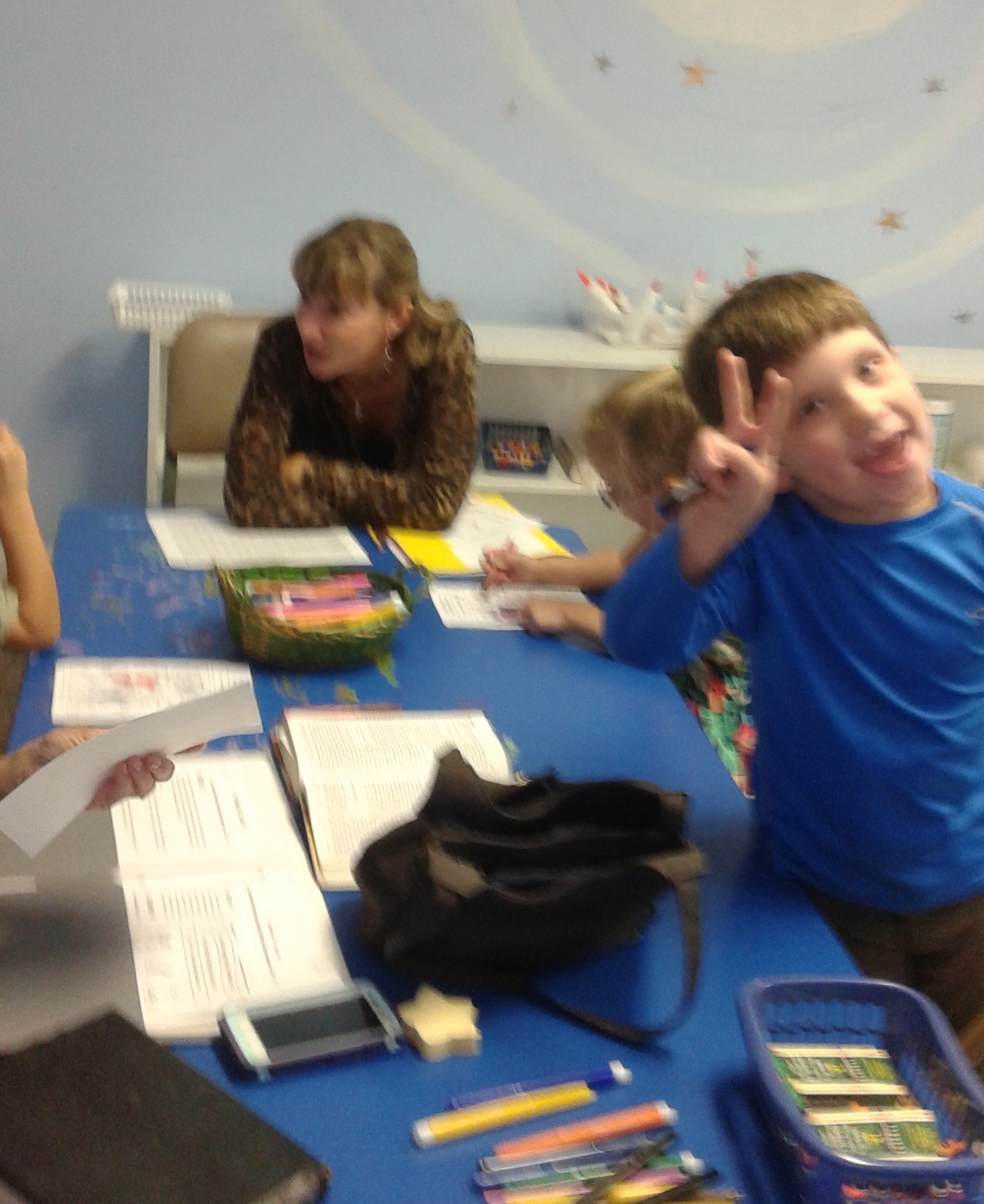 Jack having fun in his small group.