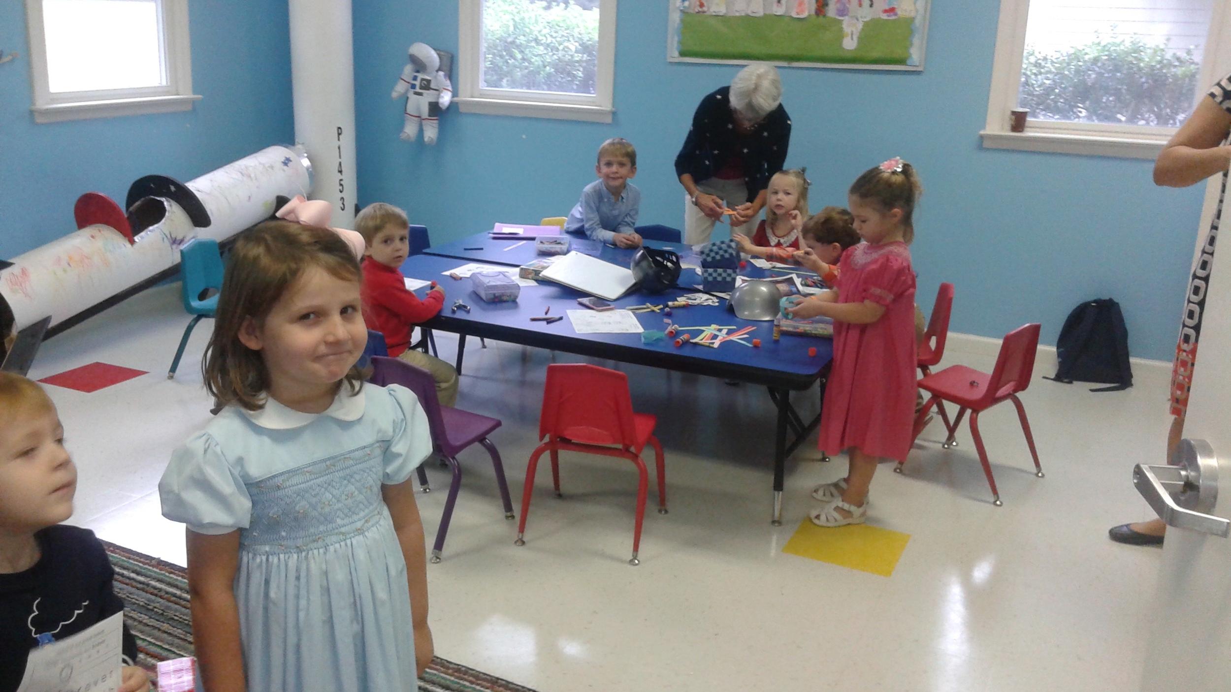 The Preschool class had fun making anchors.