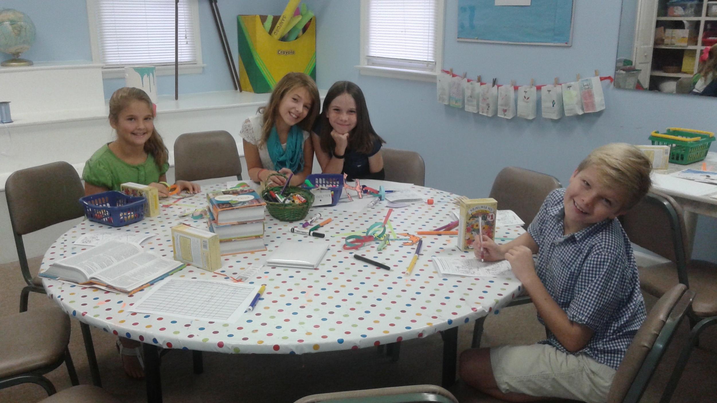 4th & 5th graders study Hebrews.