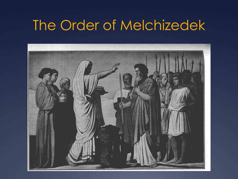 Melchizedek blesses abram
