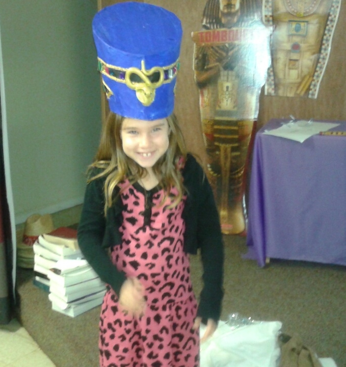That's a heavy hat, Ava!