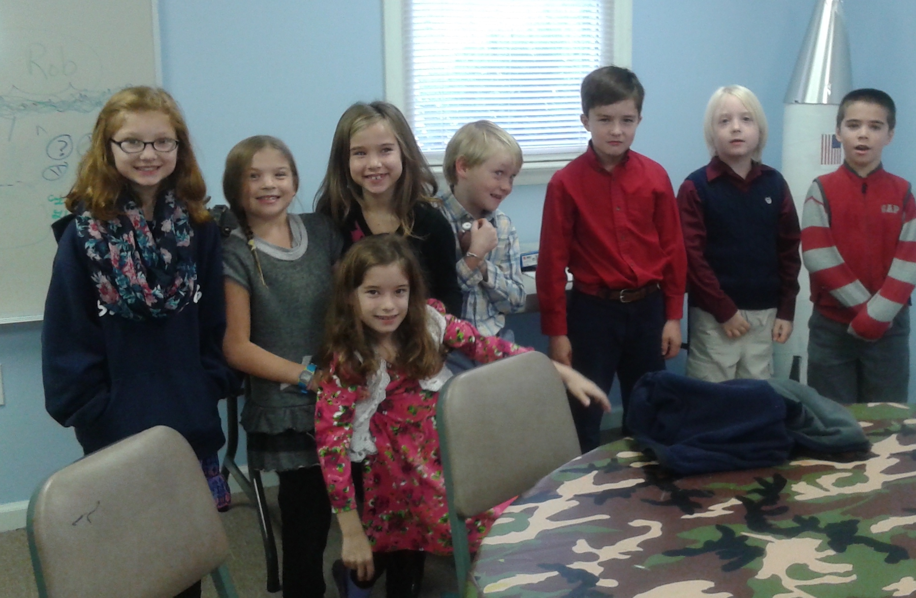Look at all those 2nd & 3rd graders!