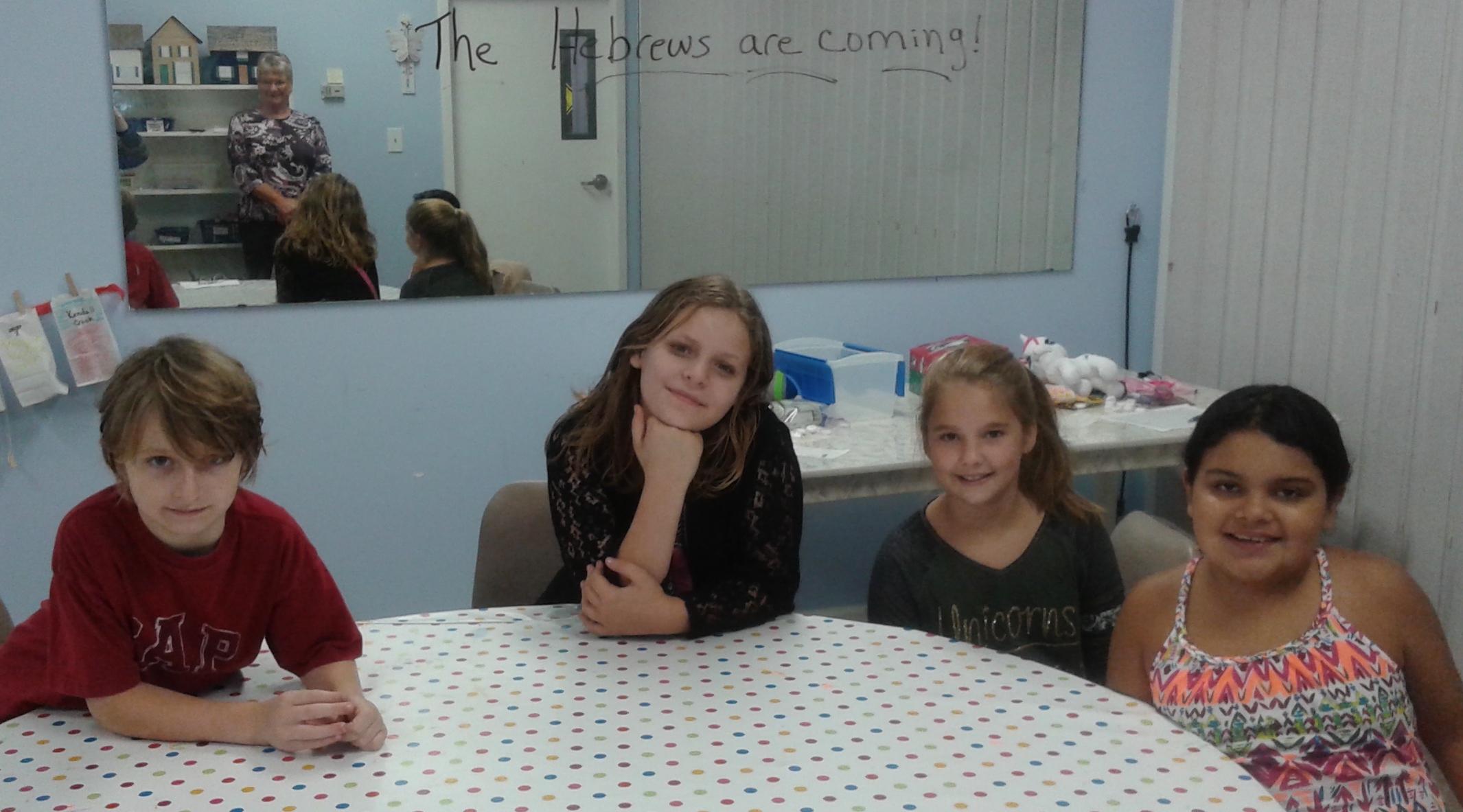 Ms. Loretta's 4th & 5th grade small group.
