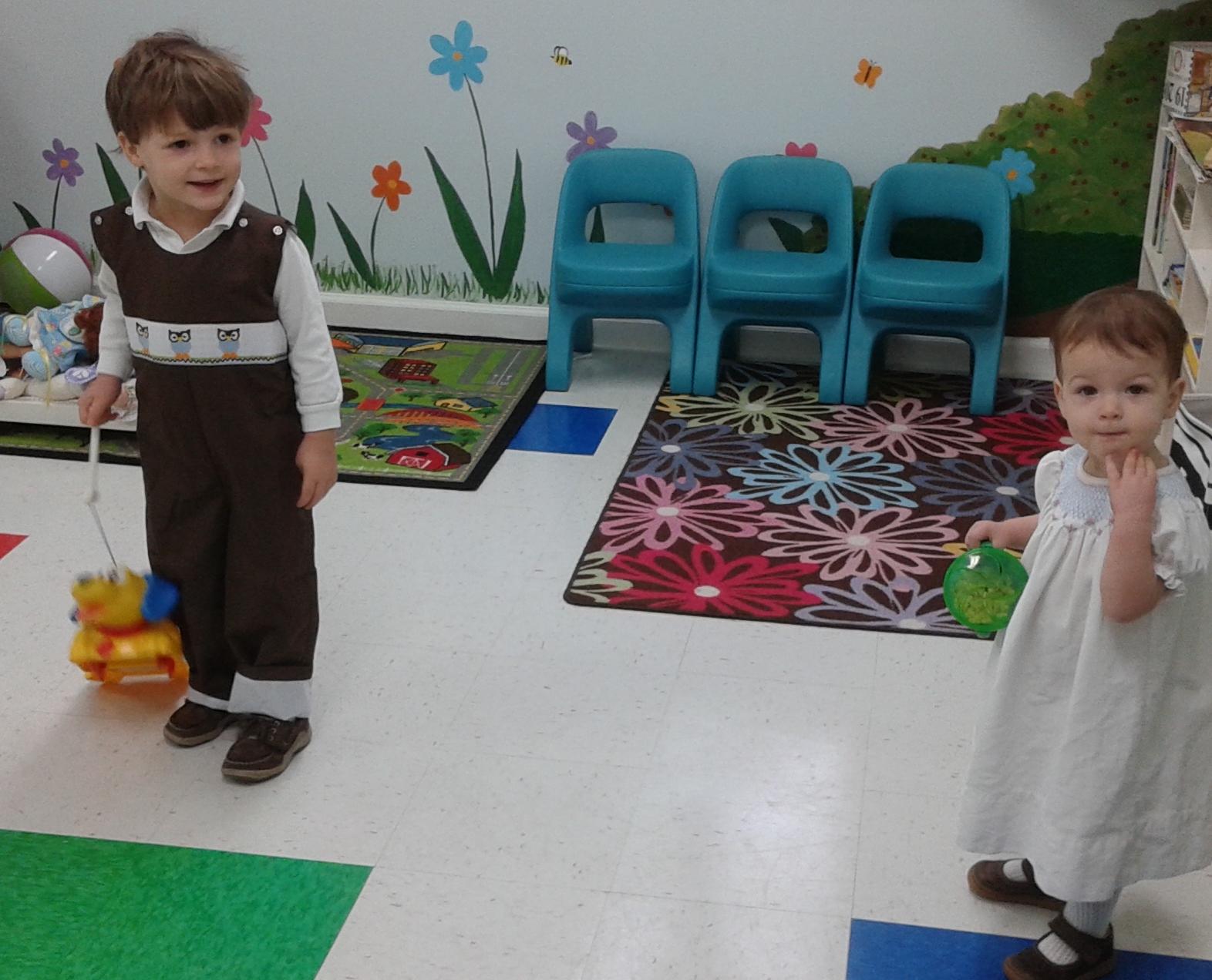 Lots of fun in the nursery.