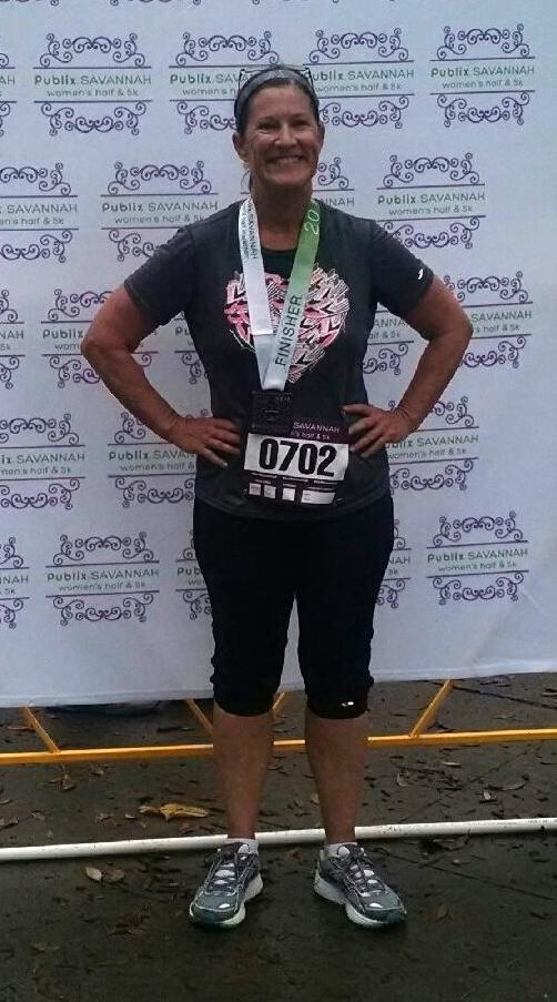 Ms. Debbie talked about running marathons.