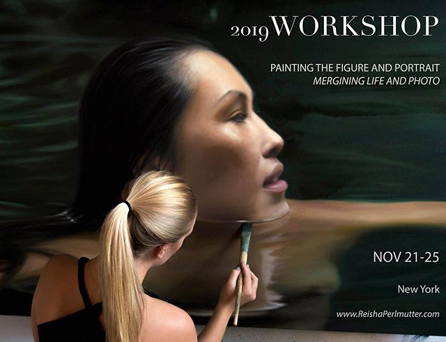 I have decided to launch one single workshop in 2019 in NYC.  I have been spending these past couple weeks painting in nature 🍃 and thinking about all I have learned throughout my education and career.. from incredible painters, museums and institutions.  After so many questions about how it is that i do what i do, I decided to want to do more to share it... and there is so much to share.  Nothing is  more gratifying than teaching the wisdom I have acquired throughout the years with curious minds.  I am inviting 12 students to my BROOKLYN studio in November to dive into my world of painting, thinking, and of process. 🔥  Details in bio.  #artist #workshop #newyorkcity #reishaperlmutter #realisticpainting #figurativepainting #womenwhopaint