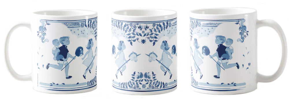 A Royal Day Out Mug 2 , Left, middle and right views