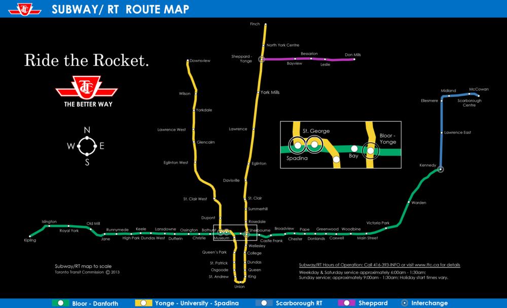 Ttc Toronto Subway Map.Ttc To Scale William B Davis