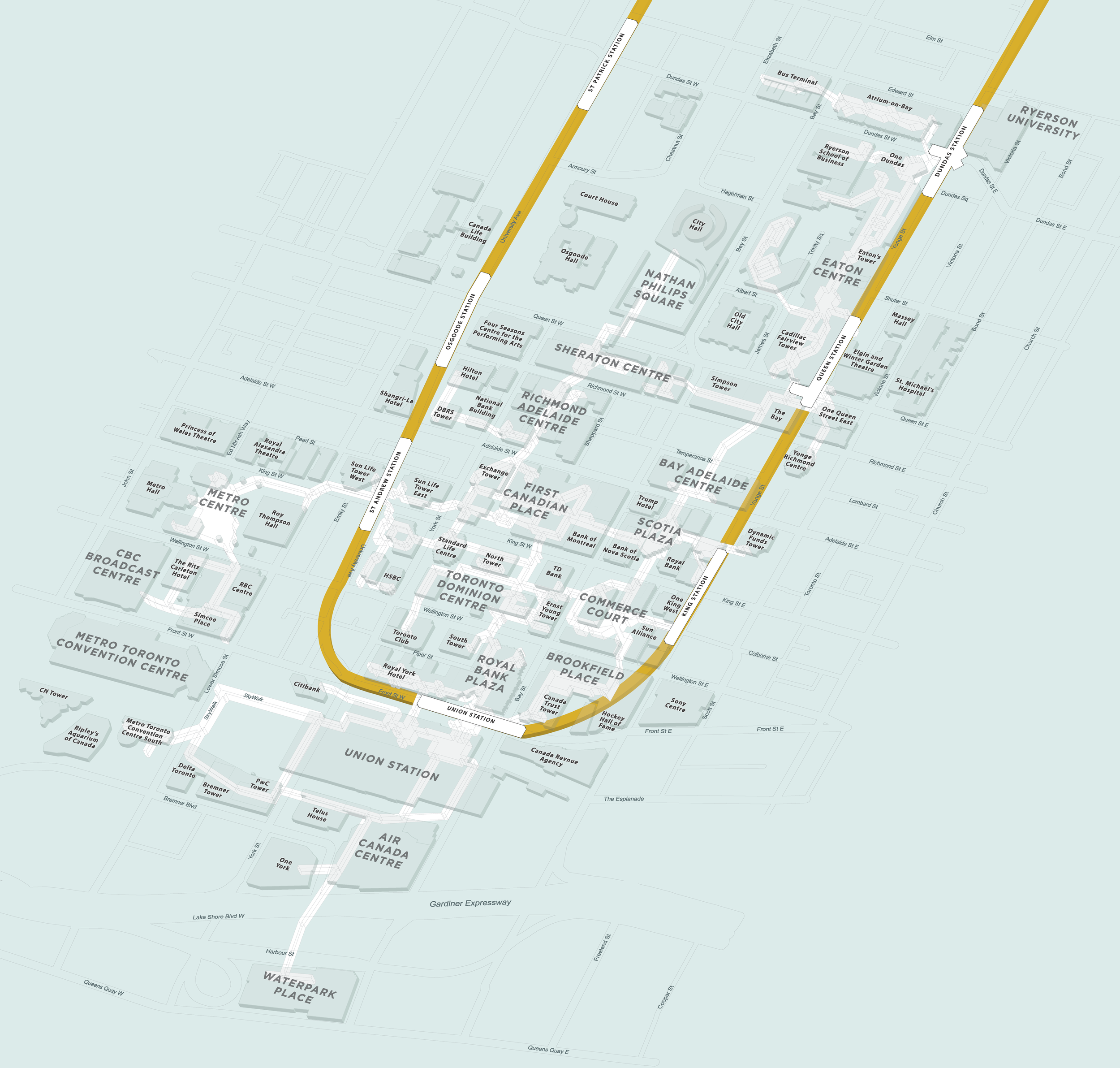 3d Map Of Air Canada Centre.3d Path William Davis
