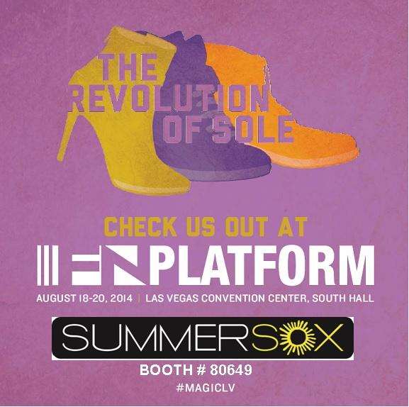SummerSox makes its debut at Magic/FN Platform... Visit us at booth 80649 to discover the ULTIMATE NO-SHOW socks