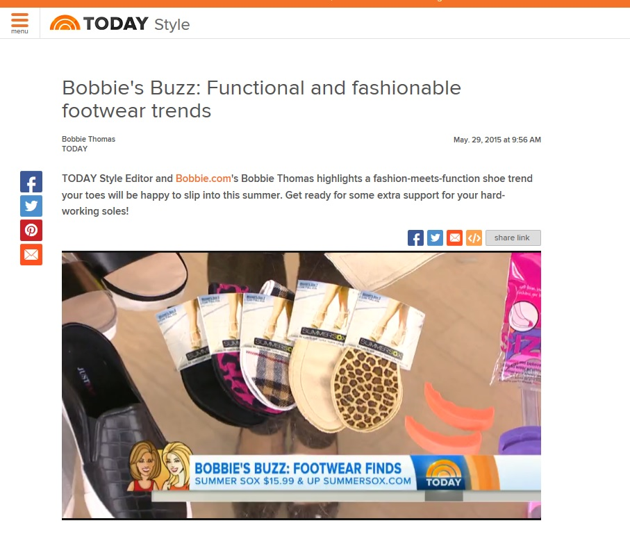 SummerSox on NBC TODAY Show