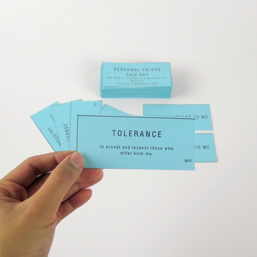 Personal Values Card Sort — DECKAHOLIC
