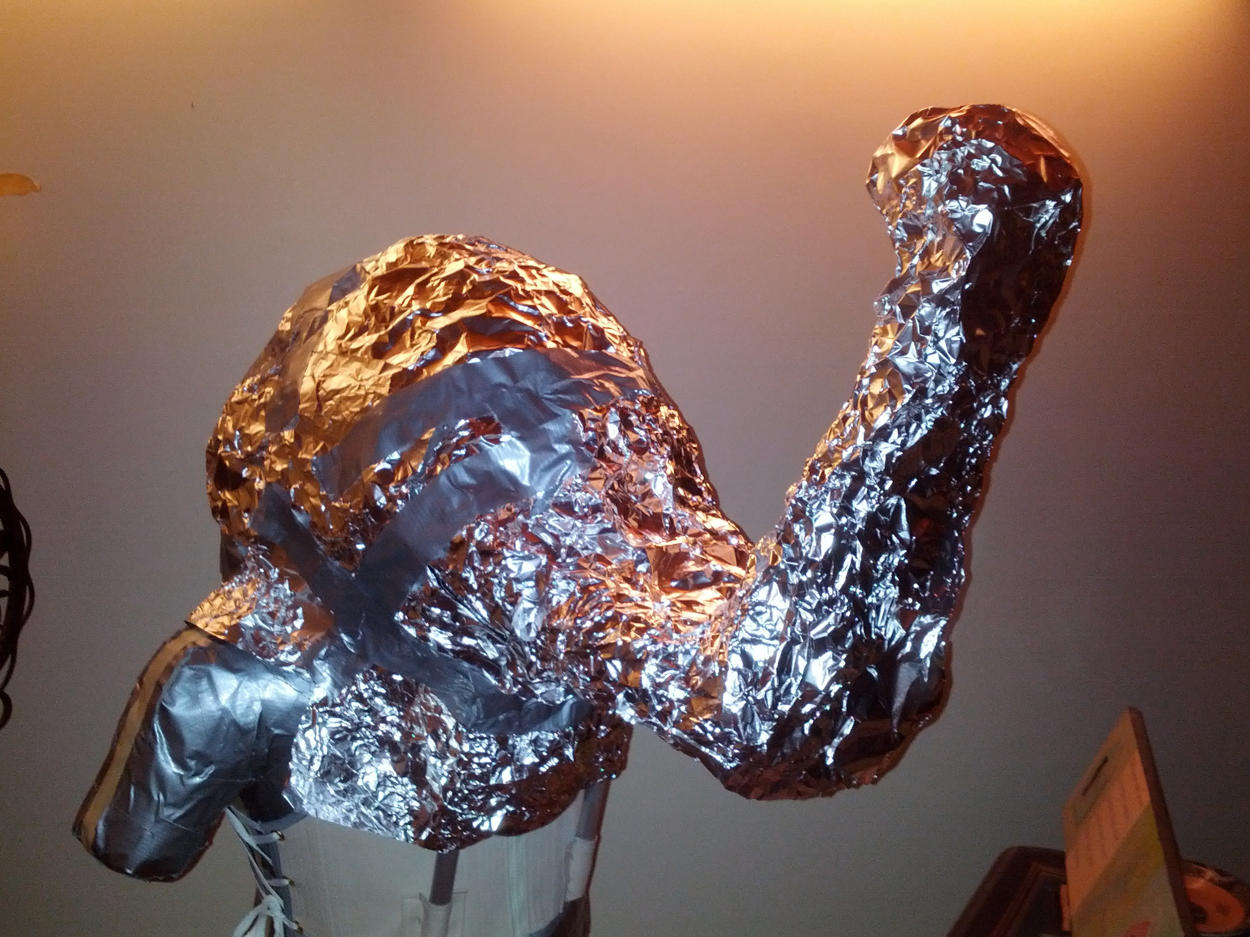 Cover with aluminum foil and then duct tape