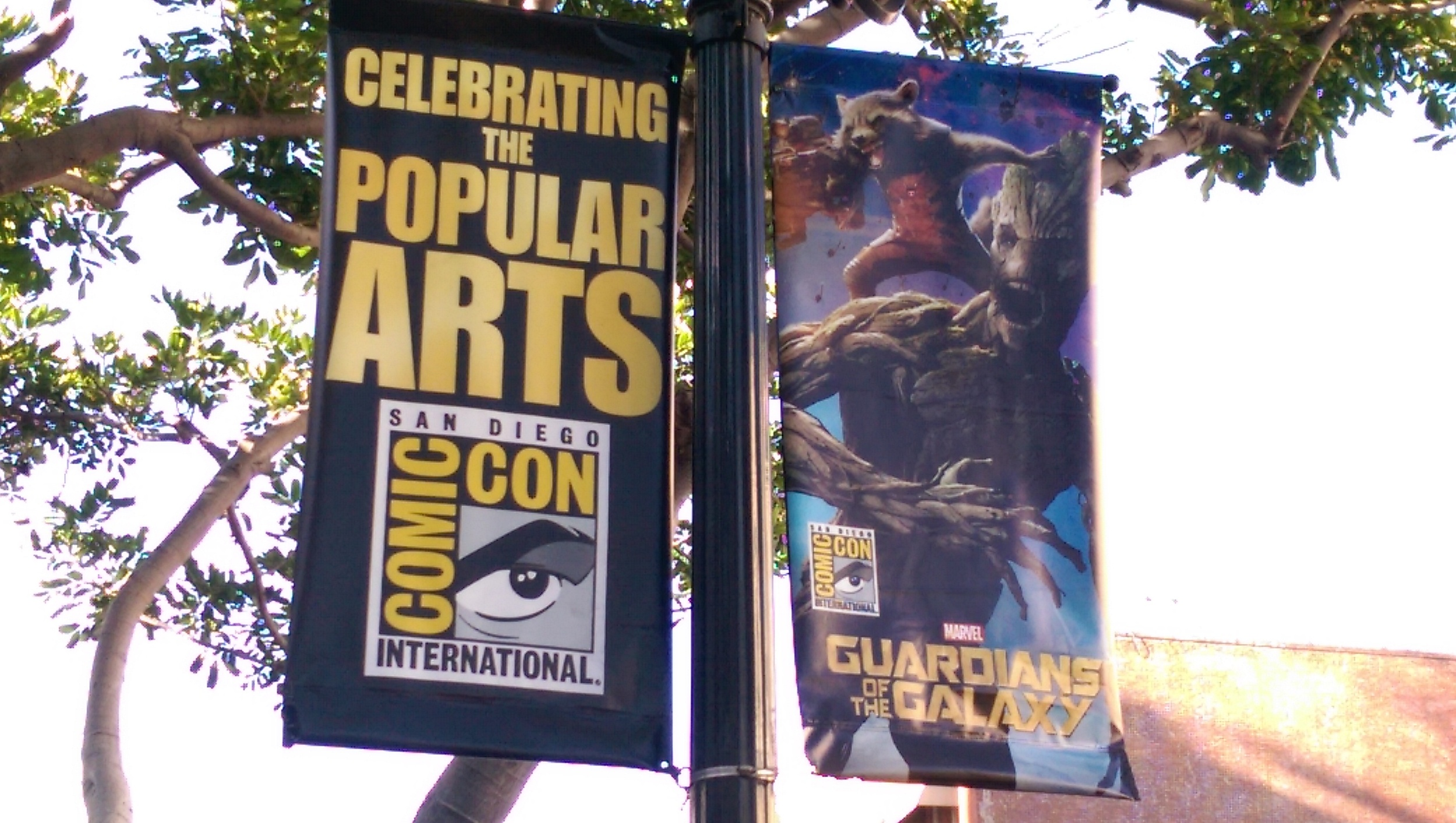 The street banners are my first sign that I'm at Comic-Con