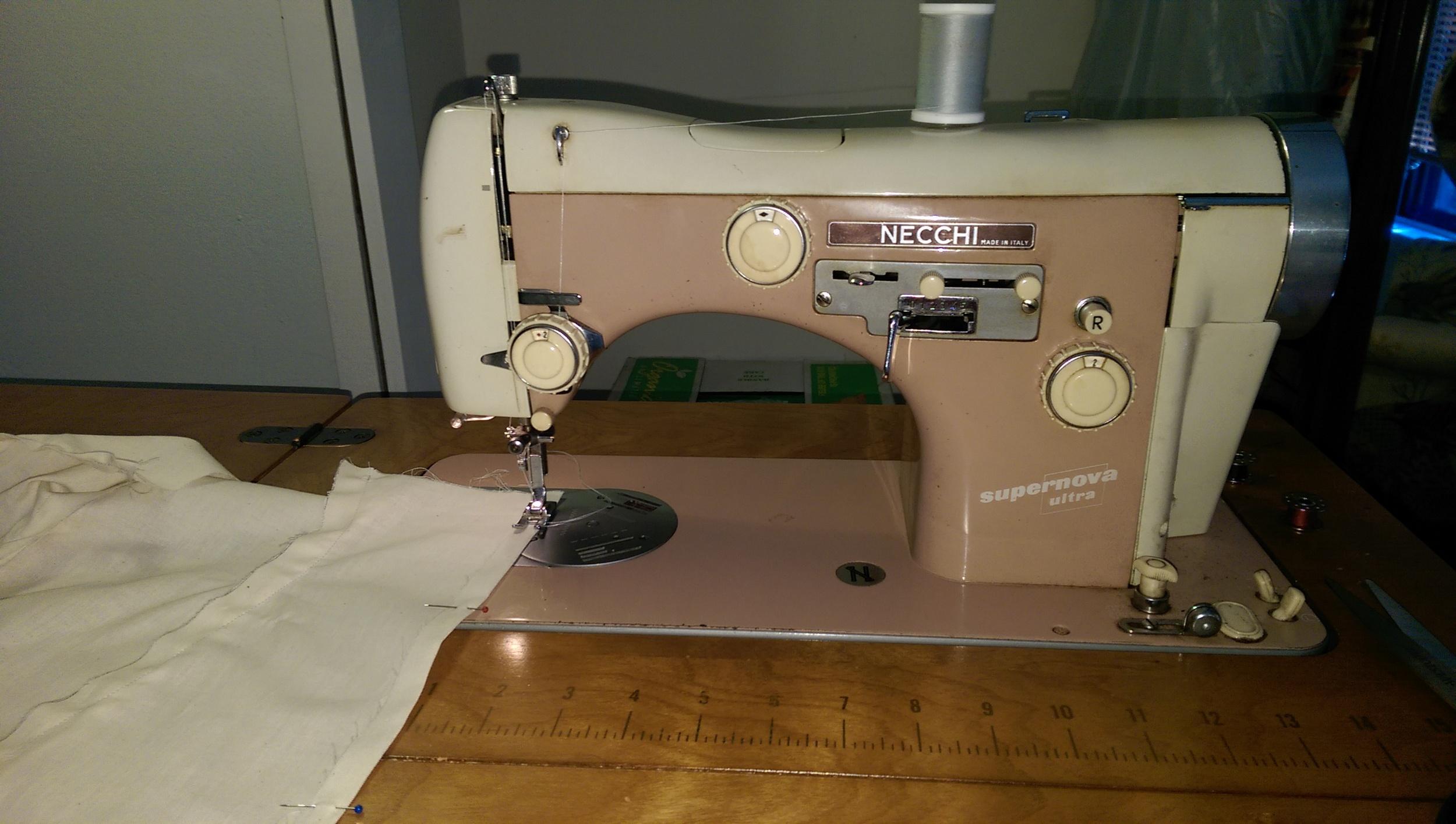 The beast, my 1955 Necchi sewing machine