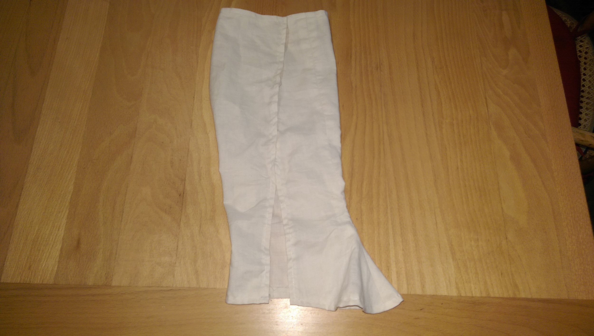Muslin prototype made from the first pattern