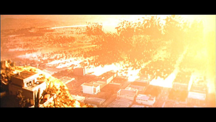 Nuclear armageddon as portrayed in  Terminator 2: Judgement Day