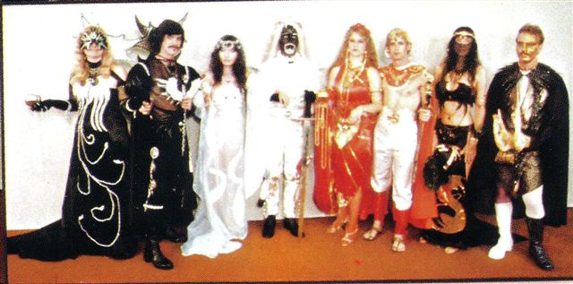 1984 Masquerade entry:The Lords of Darkness (from stories by Tanith Lee) made & worn by a group UCLA students
