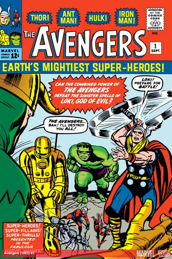 Cover of Avengers #1