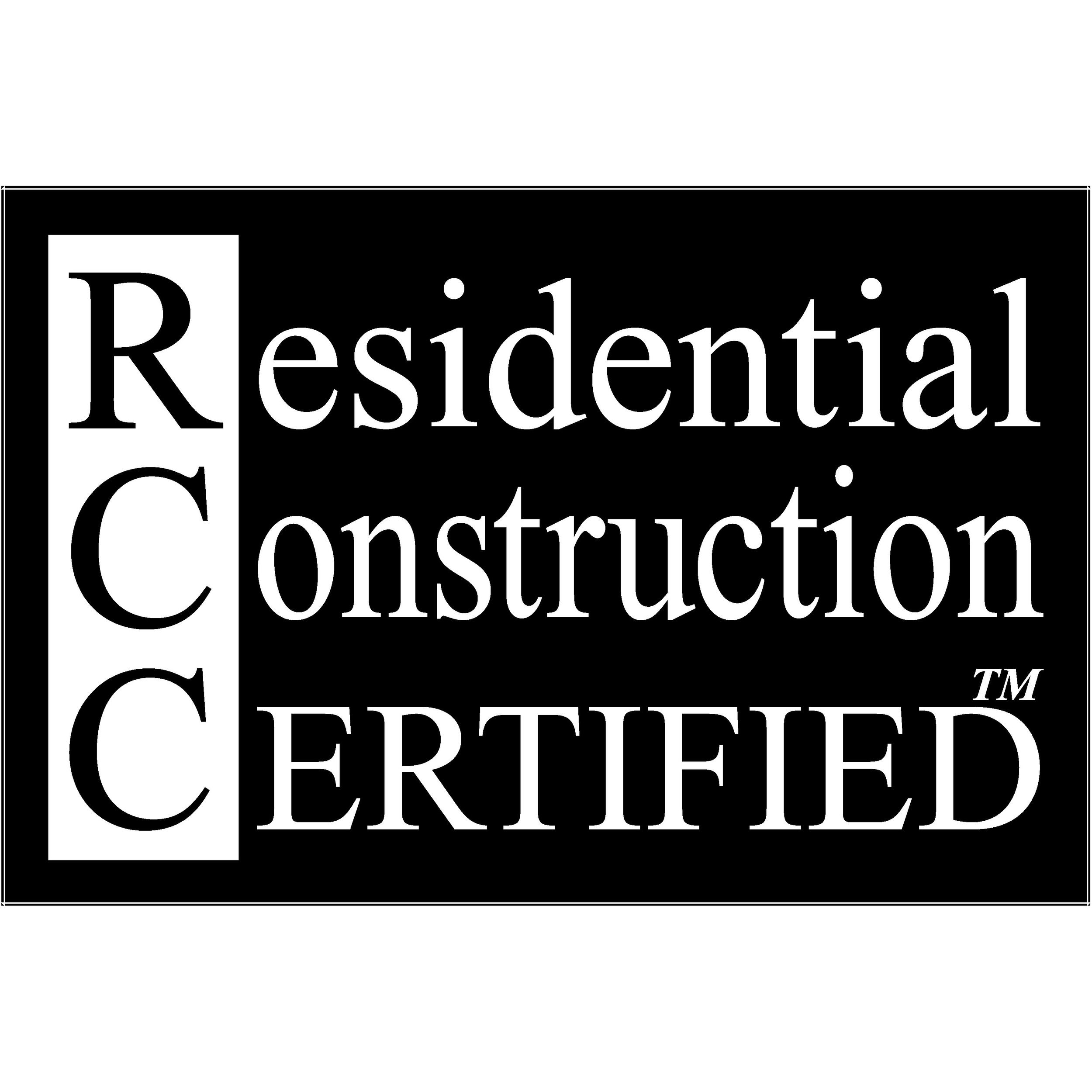 RCC, Residential Construction Certified