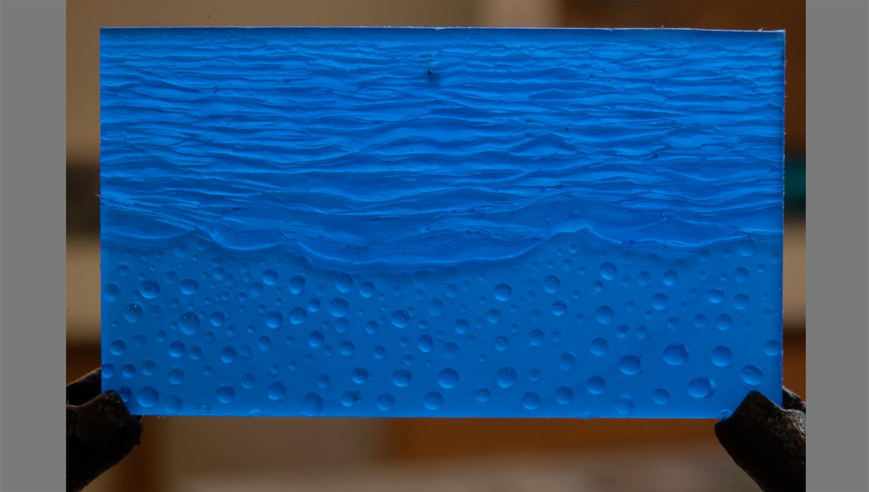 transparent wax relief.