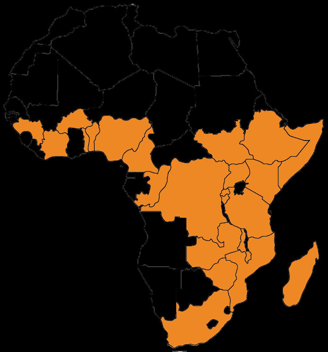 maissa, joissa toimimme