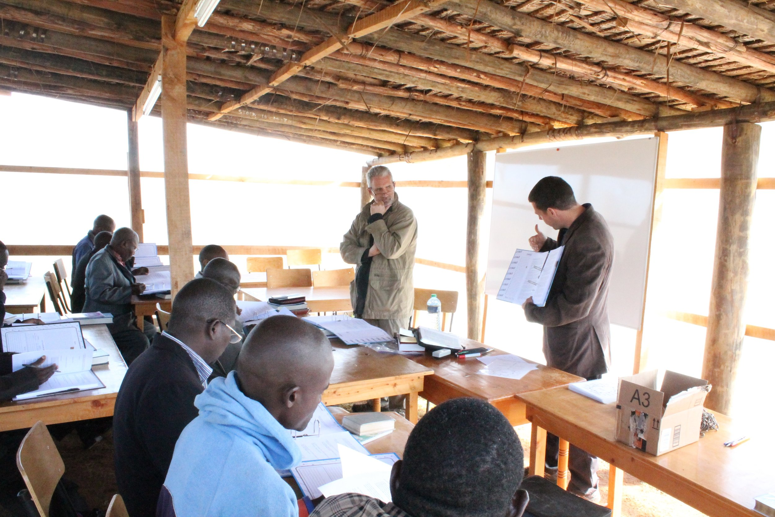 Occasionally, Pastor May would speak in Swahili to reinforce the teaching