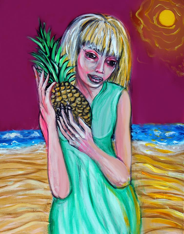 girl with a pineapple 30x40